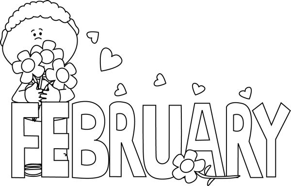 Free Black And White Valentines Day Clipart.