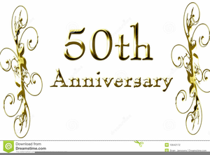 Free Clipart Golden Wedding Anniversary.