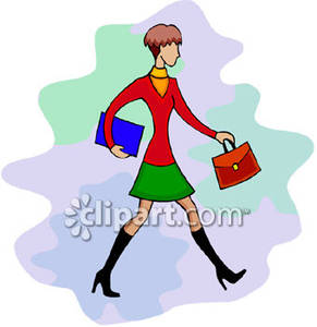 Well Dressed Business Woman Royalty Free Clipart Picture.