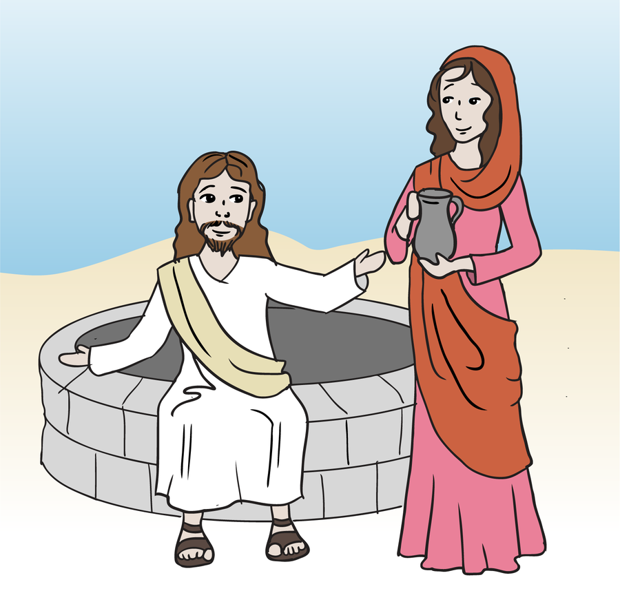 free clipart images woman at the well - Clipground