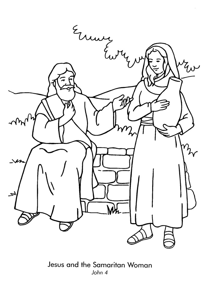 Jesus Teaches Woman At The Well Clipart.