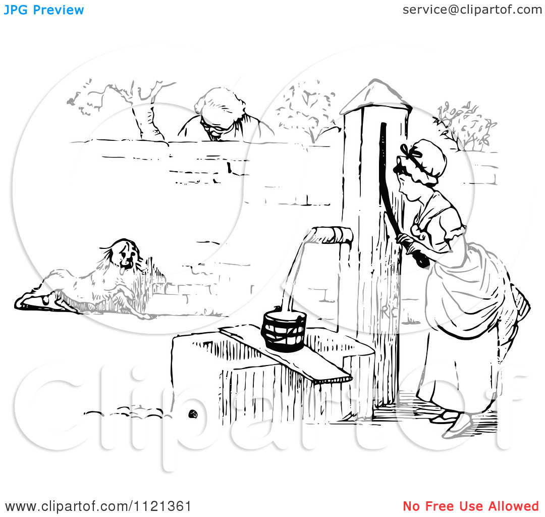 Free Clipart Images Woman At The Well.