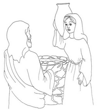 Woman at the Well Coloring Pages.