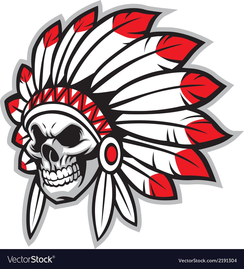 Indian skull chief.