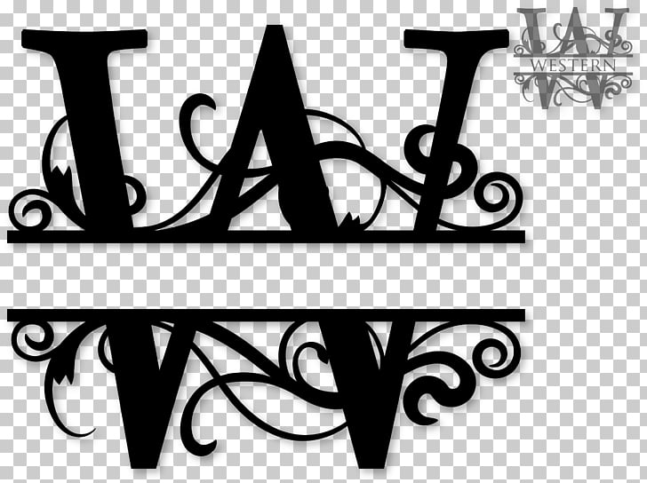 Monogram Letter Cricut , Initials PNG clipart.