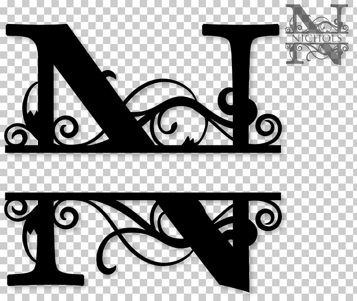 Monogram Decal Letter Initial, initials PNG clipart.