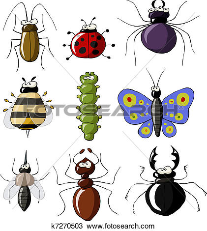 Clipart of Insects k7270503.