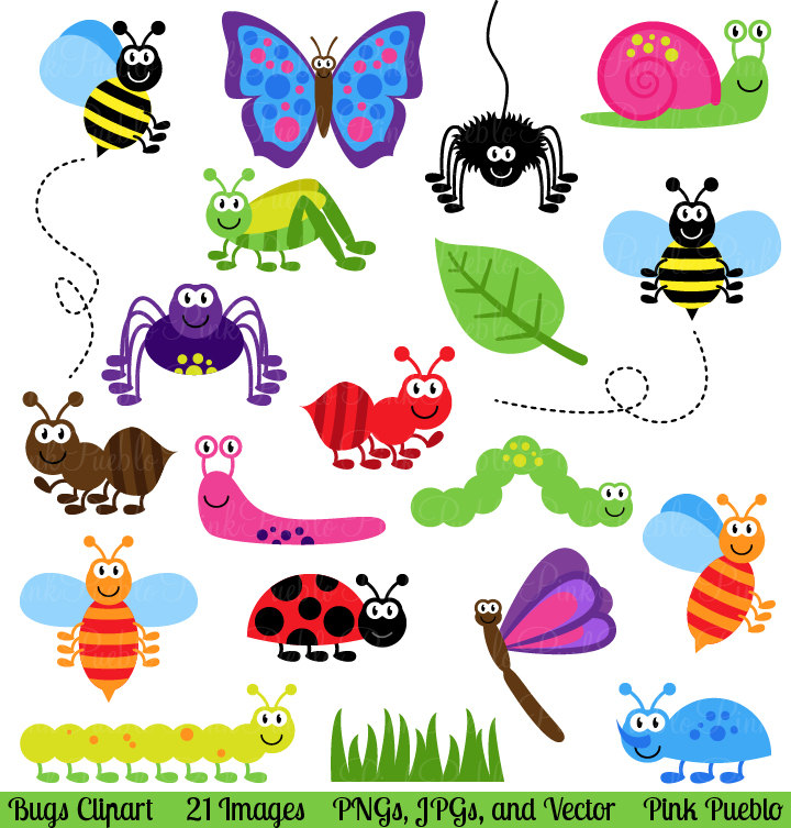 Free Insects Bugs Clipart.