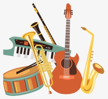 Free Musical Instruments Clip Art with No Background.