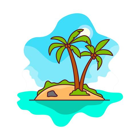 Free Vector Desert Island.