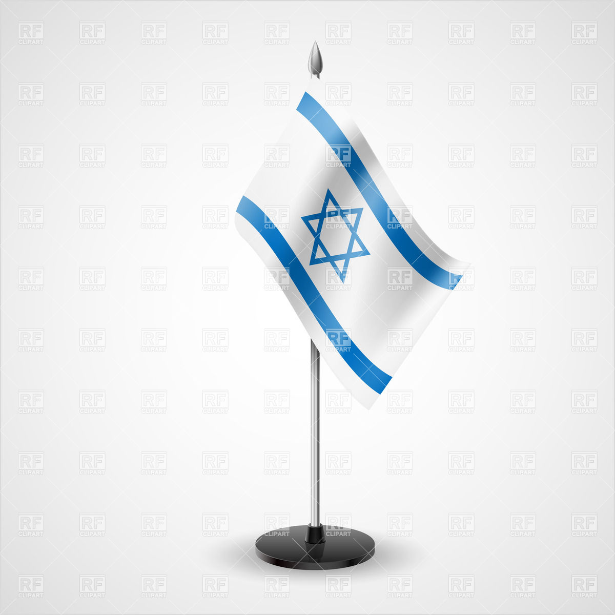State table flag of Israel Vector Image #30969.