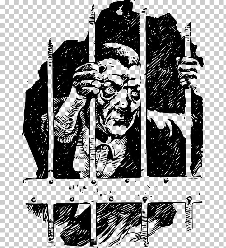 Cartoon Visual arts Light skin, jail bars PNG clipart.