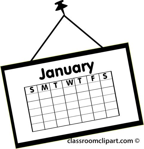 January Calendar Clipart » Clipart Station.