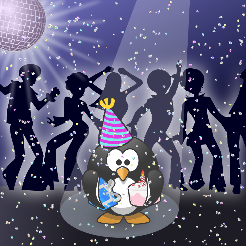 Free Clipart: January calendar page: Let\'s dance!.
