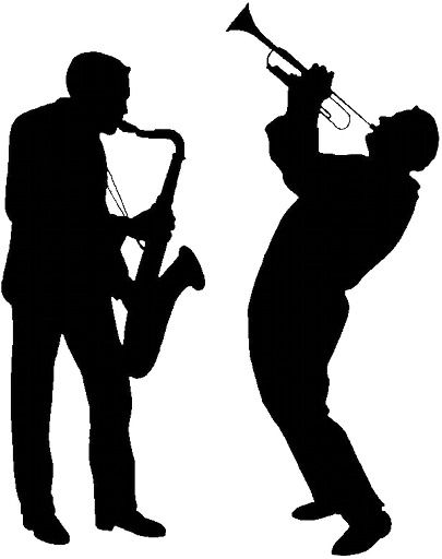 Gallery For > Jazz Musician Silhouette Cutouts.