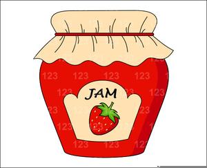 Free Jelly Jar Clipart.