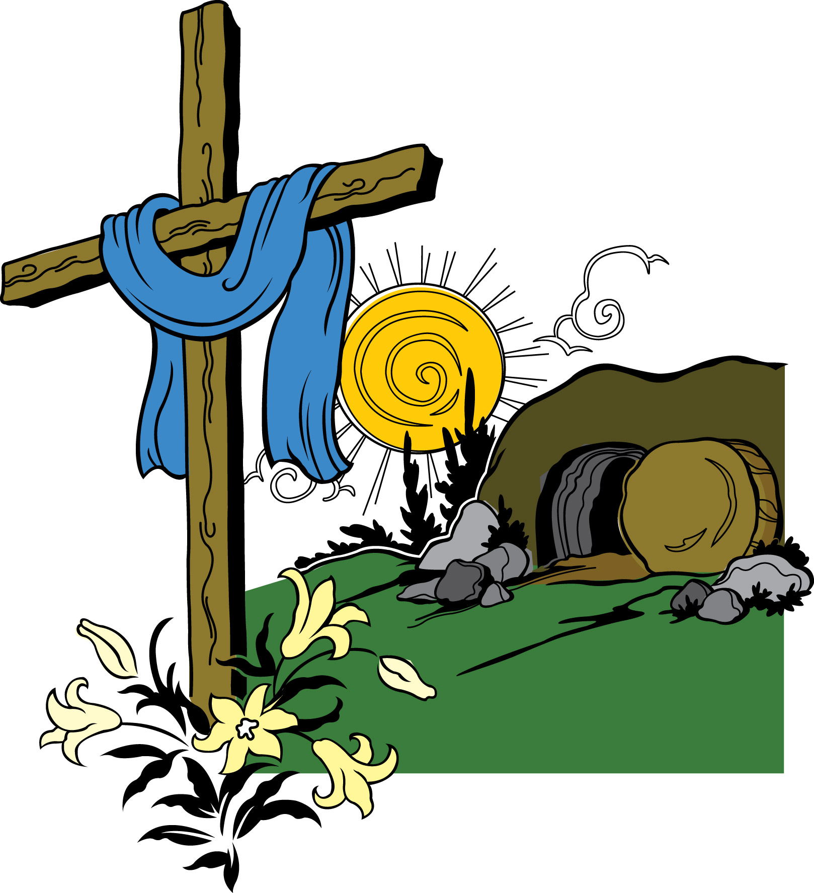 clipart for the tomb of jesus - Clipground