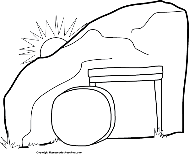 Jesus Empty Tomb Clipart.