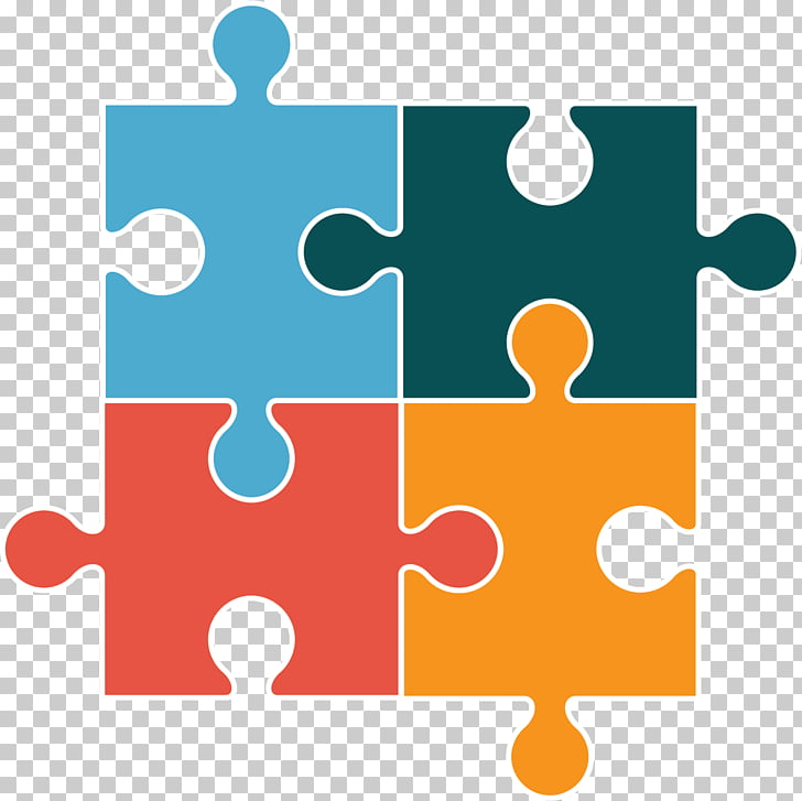 Jigsaw Puzzles , puzzle, teal, green, red, and yellow jigsaw.