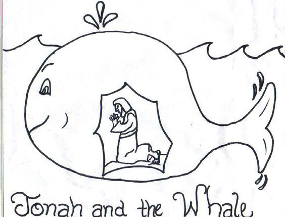 Jonah and the Whale Clip Art Free.