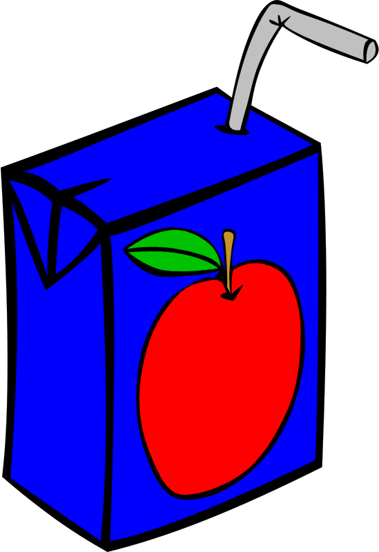 Free Clipart: Fast Food, Drinks, Juice, Apple.