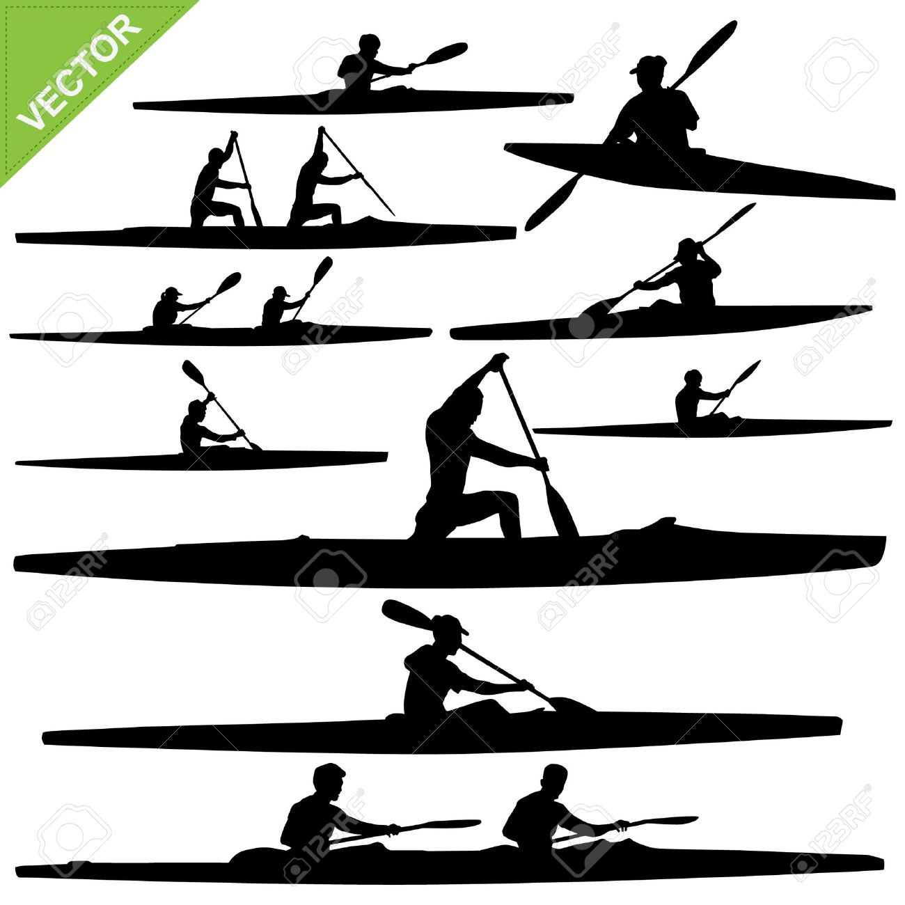 paddle silhouette clipart clipground