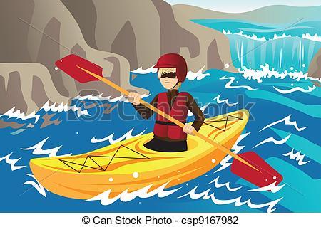free clipart kayak paddle #2