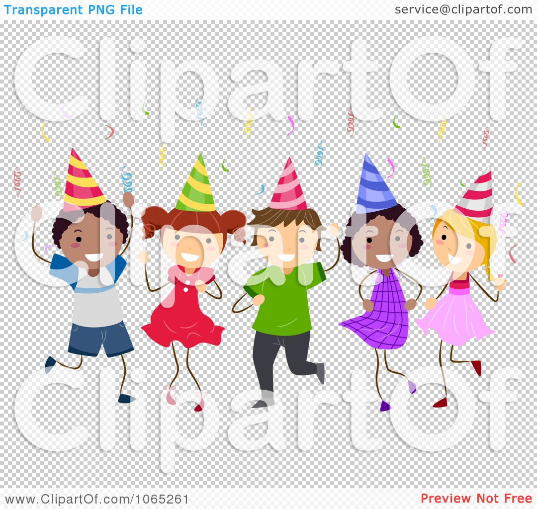Clipart Birthday Kids Dancing.