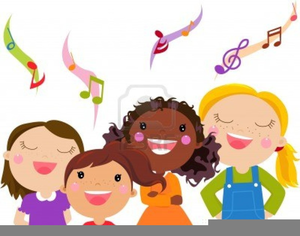 3360 Singing free clipart.