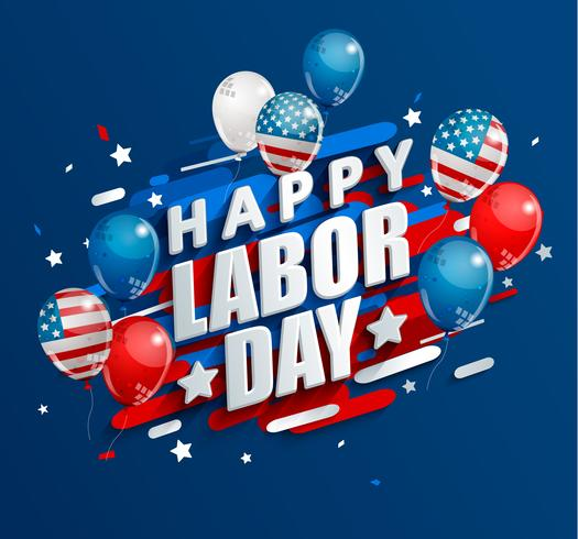 Happy Labor Day holiday banner..