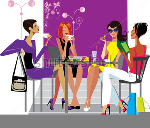 Ladies Having Lunch Clipart.