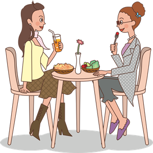 Ladies at lunch clipart, cliparts of Ladies at lunch free.