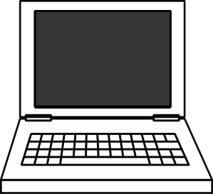 Laptop Clipart Black And White.