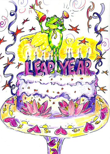 Happy Leap Year Clipart.