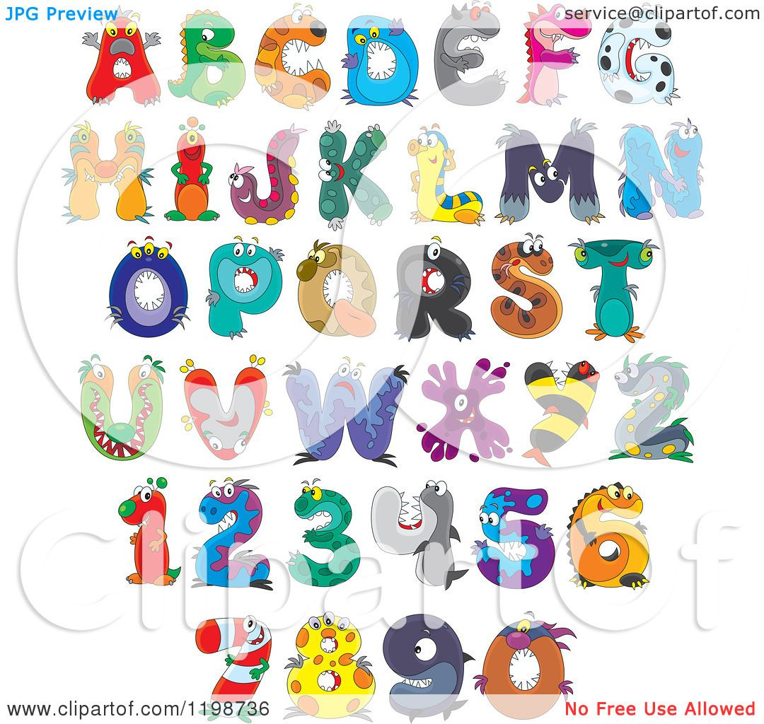 Clipart Colorful Bubble Capital Letters Numbers And Punctuation.