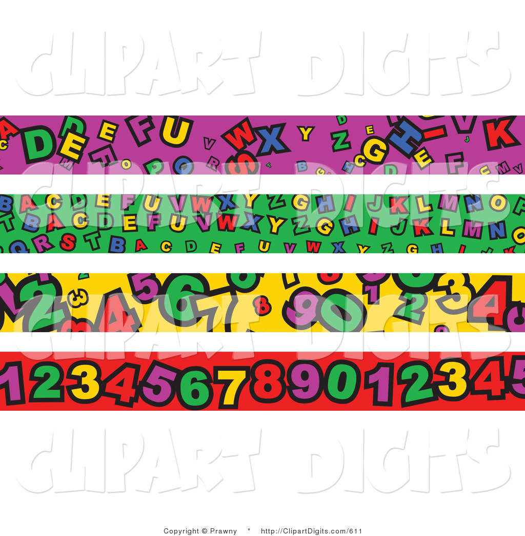 Royalty Free Letter Stock Number Designs.