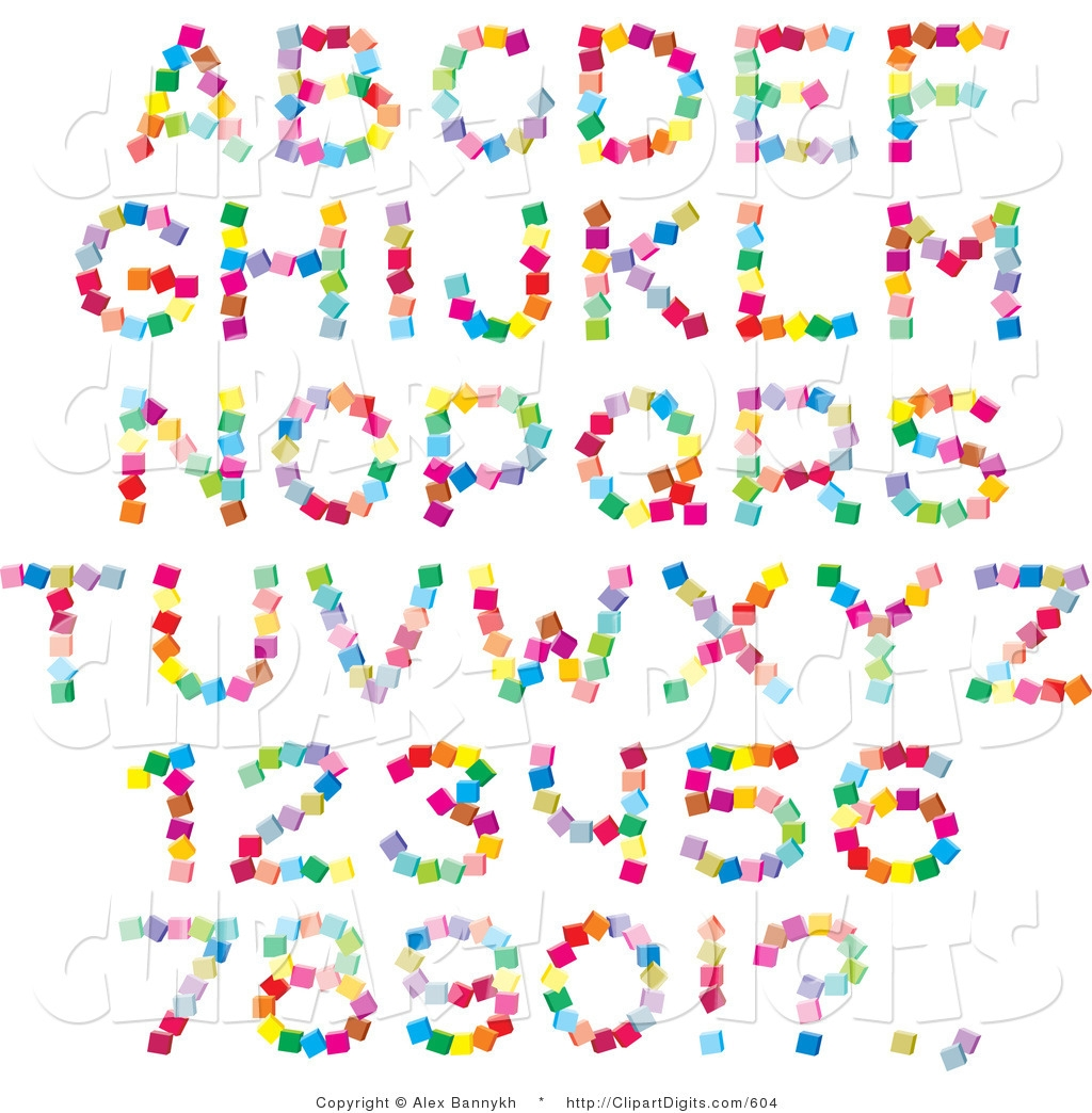 Free Letter and Number Clip Art.