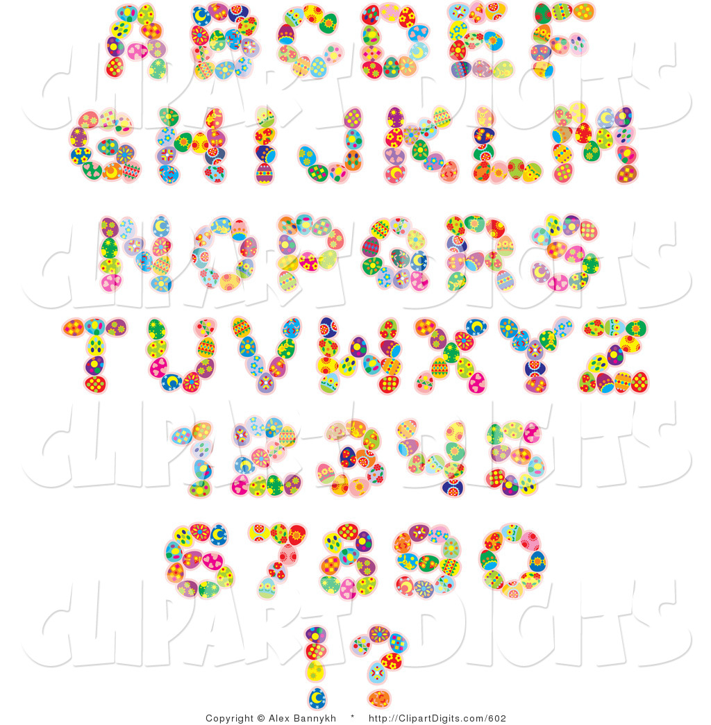 Royalty Free Alphabet Stock Number Designs.