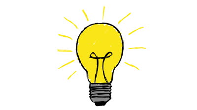 Idea Light Bulb Cartoon.