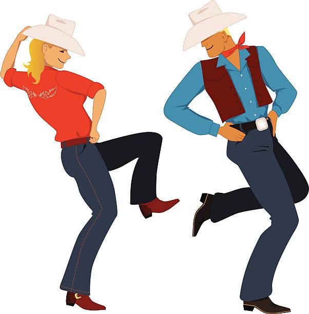 Line Dancing Clipart.