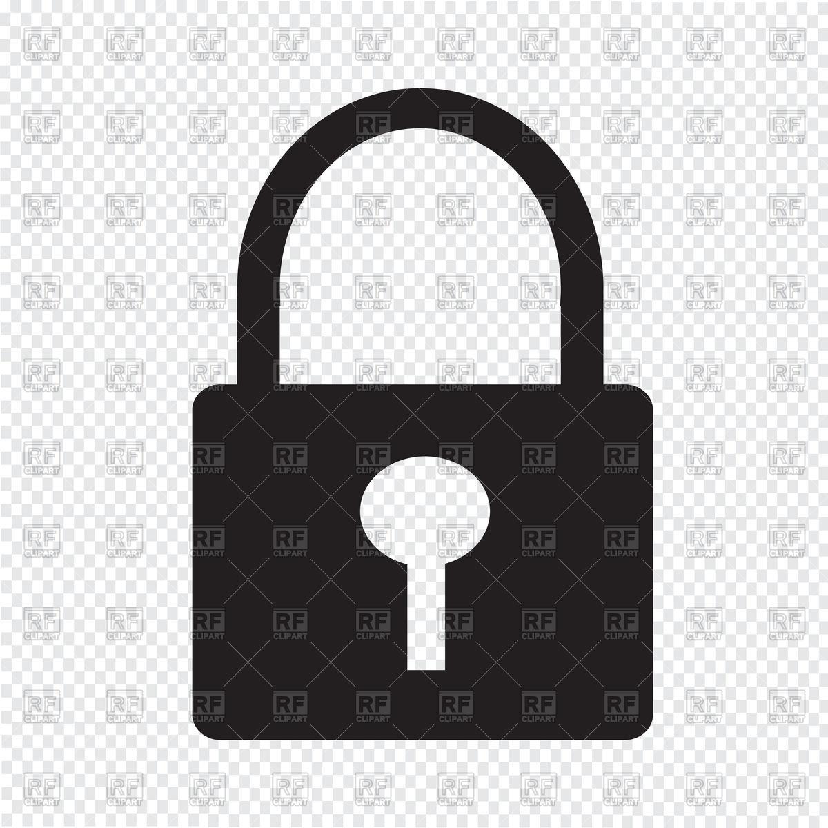 Padlock with keyhole, lock Stock Vector Image.