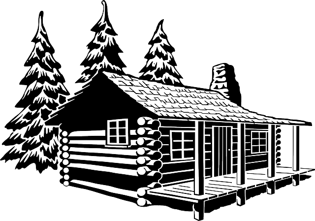 Log cabin Cottage Clip art.