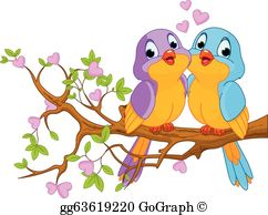 Lovebirds Clip Art.