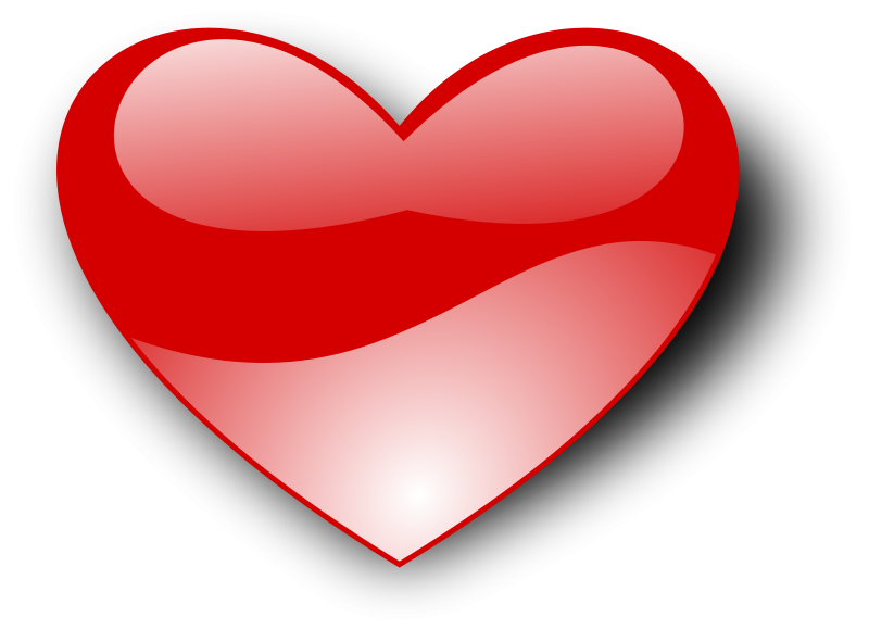 Heart clipart free love and romance graphics 6.