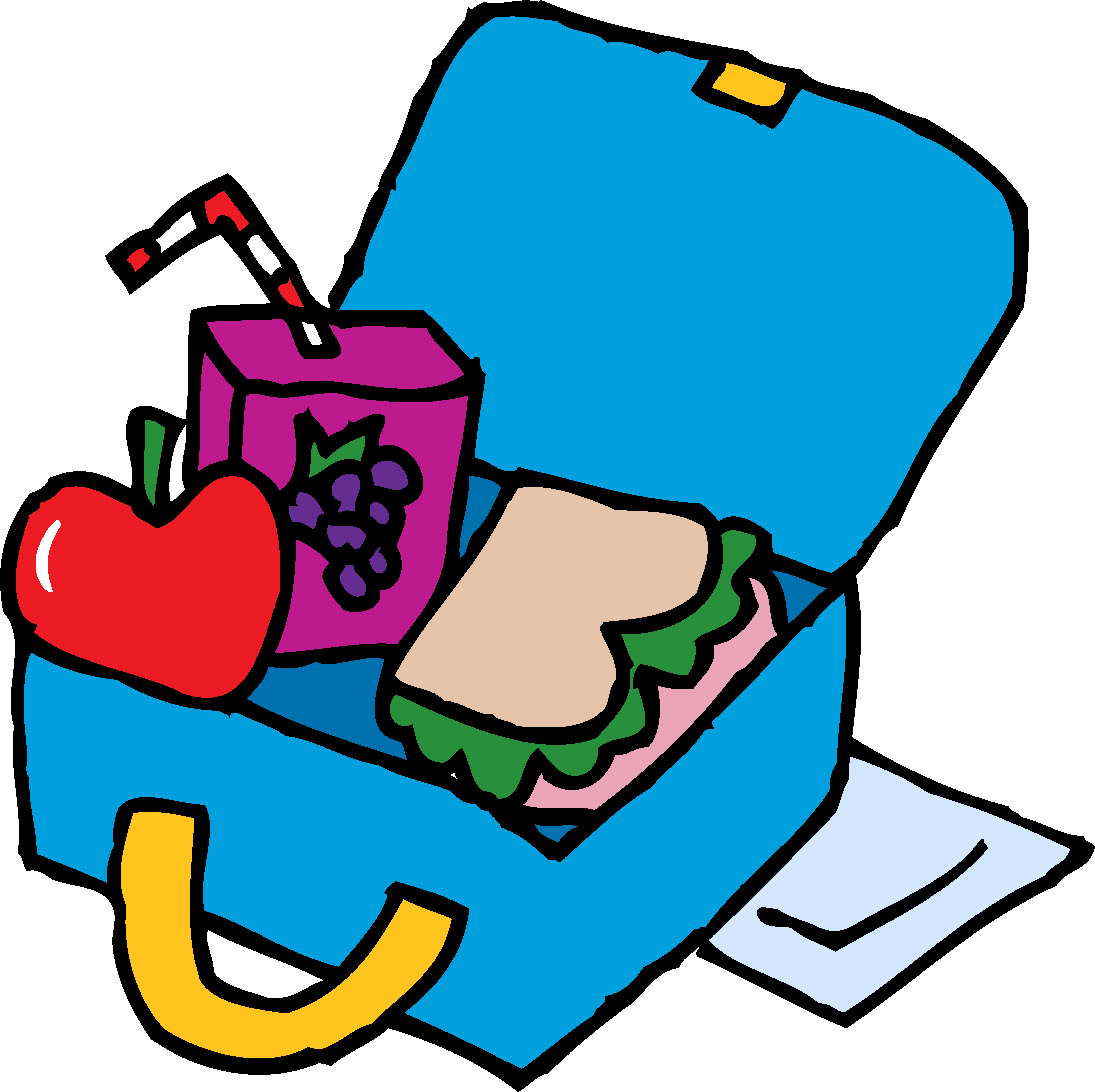 490 Lunch Box free clipart.