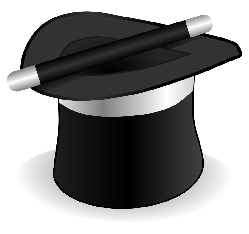 Free Clipart: Magic Hat and Wand.