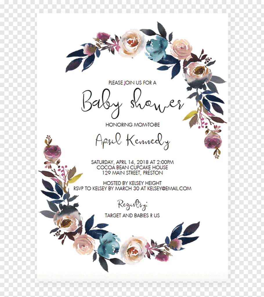 027 Baby Shower Invitation Card Png Clip Art Template Ideas.