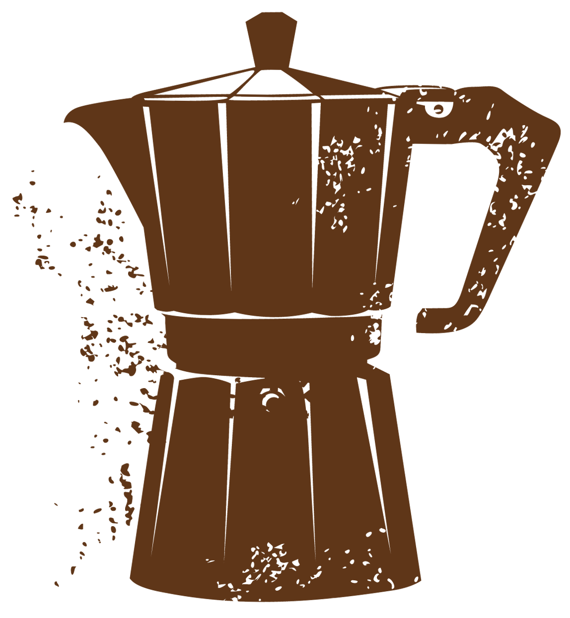 Cuban Coffee Maker PNG Vector Clipart.