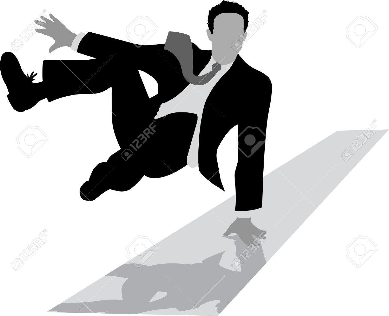 Man Falling Clipart.
