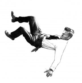 clipart man falling #8